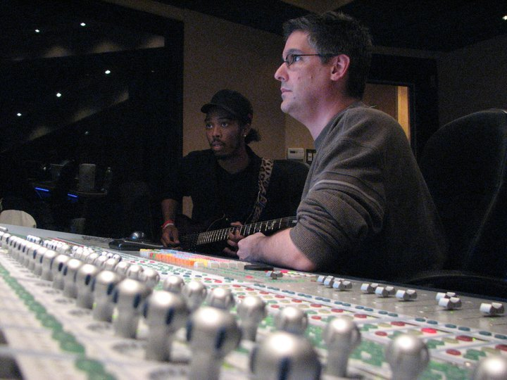 Blake at the console